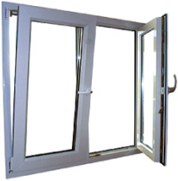 Tilt turn windows cost of tilt turn windows for Upvc french doors inward opening
